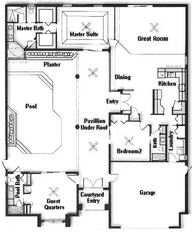 courtyard-floor2 Florida Courtyard Home Floor Plans on florida pool home plans, florida duplex plans, florida house plans,